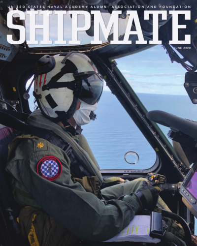 Helicopter Pilot Wears Mask of Fear (June 2020 Shipmate Cover)